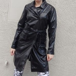 90s Rave 4 Real leather trench coat
